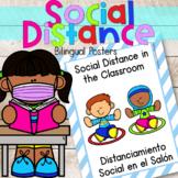 Social Distancing Expectations Bilingual Posters|Classroom