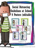 Social Distancing Guideline Posters {editable}