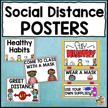 Social Distancing Posters | Mini Book