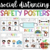 Social Distancing Safety Signs | Rainbow