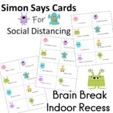 Social Distancing  Simon Says Cards