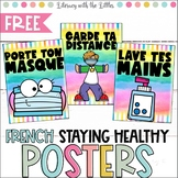 Social Distancing and Healthy Habits Posters -in French