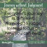 Social Emotional Alphabet Poster - J (Journey without Judgement)