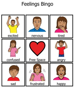 Boardmaker Social/Emotional Bingo