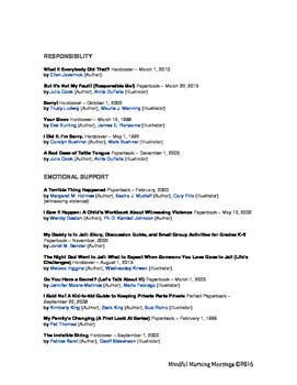 Social Emotional Booklist