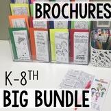 Social Emotional Brochures Elementary and Middle School Bundle