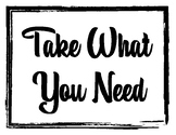 SEL Motivational Quotes Bulletin Board: Take What You Need