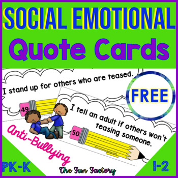 Social Emotional Learning Character Education Anti-Bullying  FREEBIE