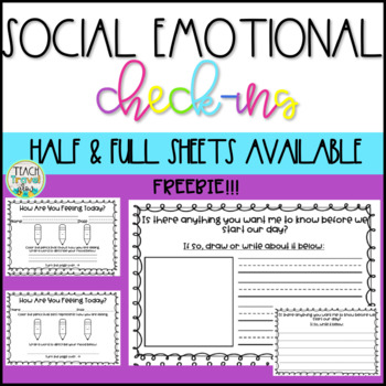 Social Emotional Morning Check-Ins FREEBIE
