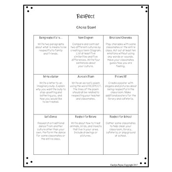 Social Emotional Choice Board Bundle
