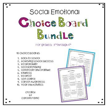 Social Emotional Choice Board Bundle