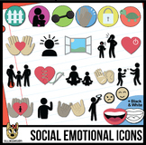 Social Emotional Clip Art Icons: Adult & Child