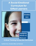Social Emotional Curriculum Bundle for Gifted and Talented GATE K-5 35% Off