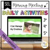 Social Emotional Executive Functioning Elementary - I Can Manage Emotions