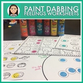 Social Emotional: Feelings Paint Dabber Worksheets