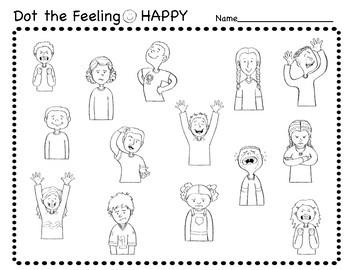 Social Emotional: Feelings Paint Dabber Worksheets