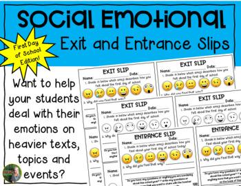 Social Emotional First Day of School FREEBIE!!