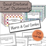 "Social Emotional ""I Can"" Cards - Warm & Cool Color Bundle"
