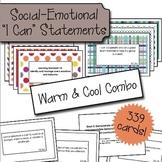 "Social Emotional ""I Can"" Cards - Warm & Cool Color Bundle"