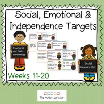 Social, Emotional & Independence Targets Weeks 11-20