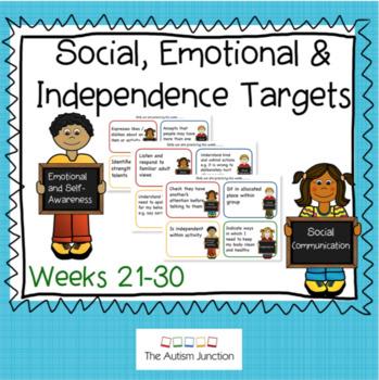 Social, Emotional & Independence Targets Weeks 21-30
