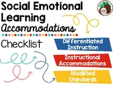 Social Emotional Learning Accommodations Checklist