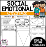 Social Emotional Learning Activities - 40 No Prep Printable Activities
