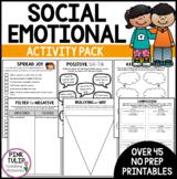 Social Emotional Activities - No Prep Printable Pack