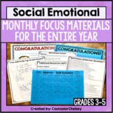 Social Emotional Learning Topic Of The Month Activities: Grades 3-5