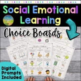 Social Emotional Learning Activities Choice Boards