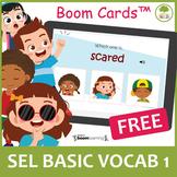 Identify Emotions | Social Emotional Learning| Vocabulary 1 BOOM CARDS (FREEBIE)