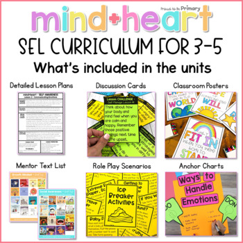 Social Emotional Learning, Social Skills, & Character Education bundle 3-5