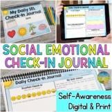Social Emotional Learning Check-In Journal | Self-Awarenes