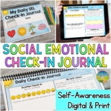 Social Emotional Learning Daily SEL Check-In Journal | Dis