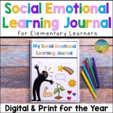Social Emotional Learning Journal Elementary - SEL Skills for the Year