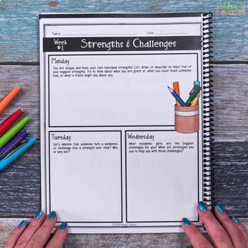 Social Emotional Learning Journal Free Sample