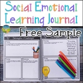 Social Emotional Learning Journal Free Sample - Distance Learning