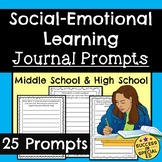 Social Emotional Learning Journal Prompts for Middle Schoo