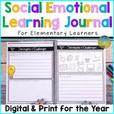Social Emotional Learning Journal Elementary   SEL Skills
