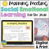 Social Emotional Learning Morning Meeting | Digital and Print SEL Activities