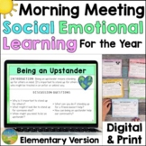 Social Emotional Learning Morning Meeting - Elementary SEL Daily Activities
