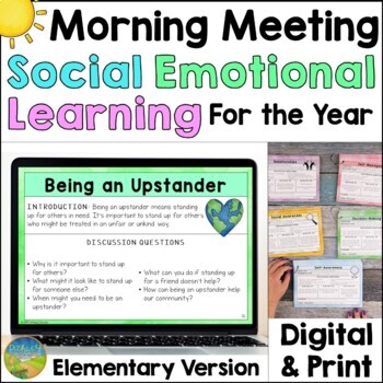 Social Emotional Learning Morning Meeting for Elementary