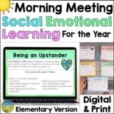 Morning Meeting for Social Emotional Learning   Elementary Digital & Print
