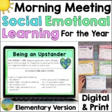Social Emotional Learning Morning Meeting for Elementary -