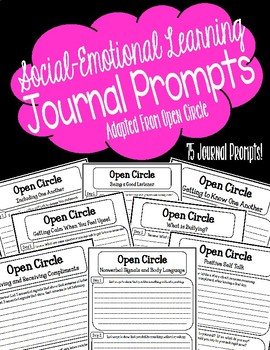 Social-Emotional Learning/Open Circle Journal Prompts