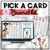 Social Emotional Learning Pick A Card Bundle | Counseling Prompts