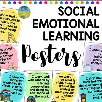 What Makes Sel Work >> Social Emotional Learning Posters By Pathway 2 Success Tpt