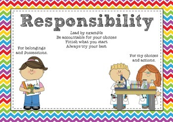 Social & Emotional Learning Posters - Respect, Responsibility, Persistence etc