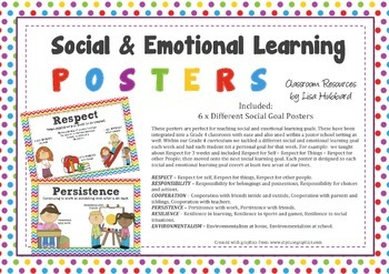 Social & Emotional Learning Posters - Respect, Responsibil