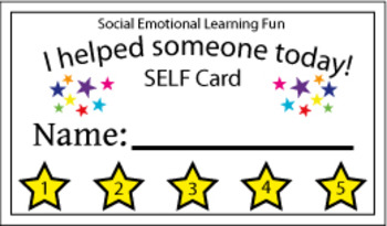 Social Emotional Learning Punch Card 10ct